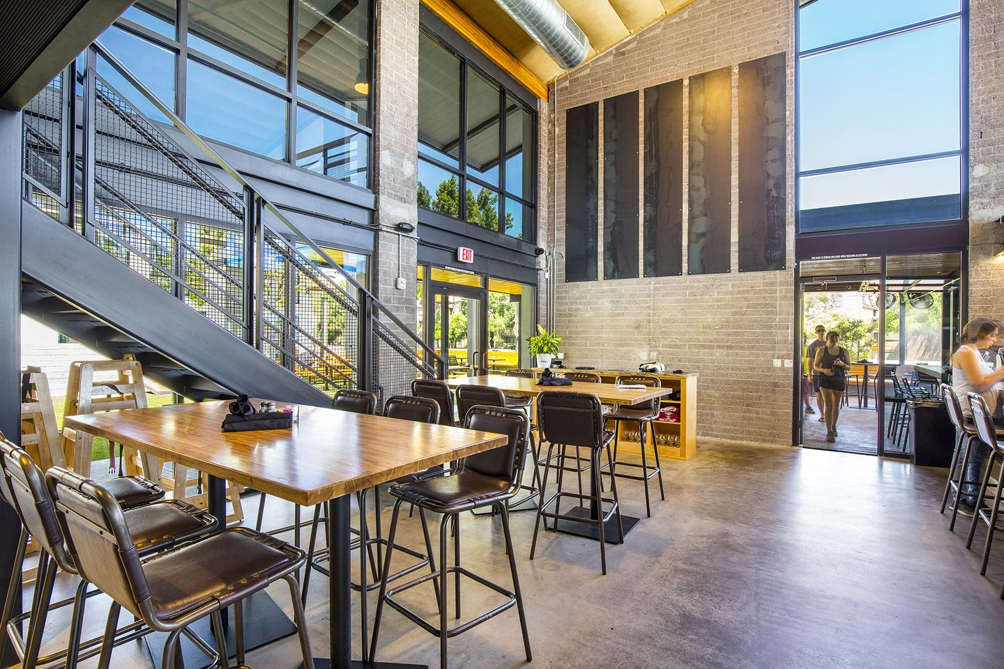 Modern industrial architecture and design brewery