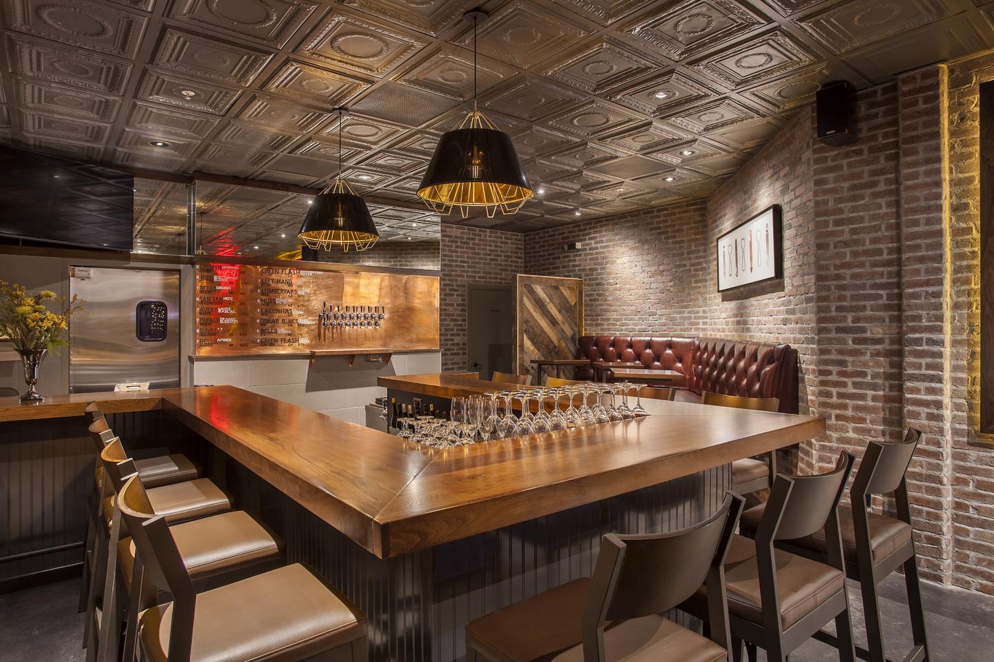 Modern industrial architecture and design wine bar